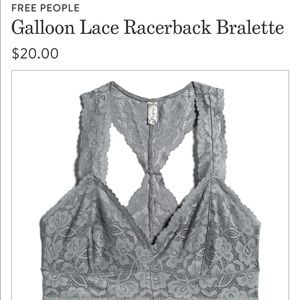 EUC Free People Galloon Lace Bralette